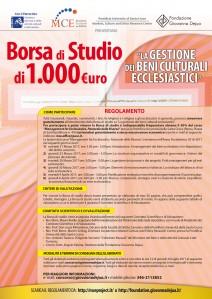 FGD-MCE - Borsa di Studio - locandina con patrocinio MiBACT